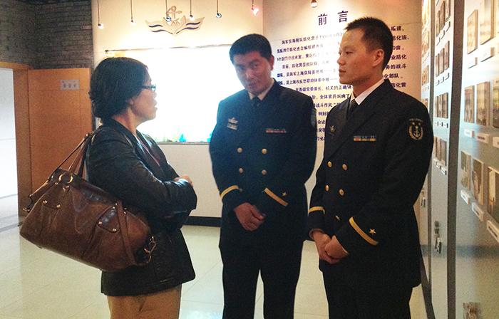 校领导一行赴海军东海舰队防化营参观交流